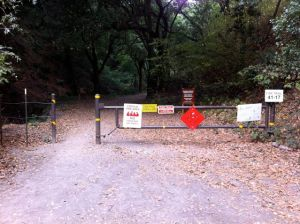 Huckleberry entrance gate from Pinehurst Road in Canyon