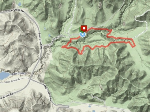Map of 2 mile loop