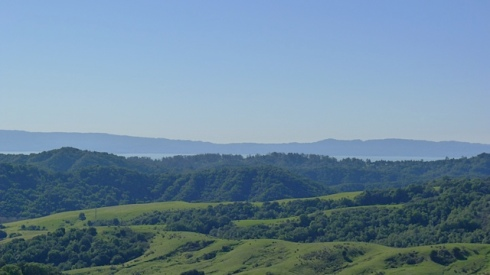 Views of the San Francisco Bay from the top of the second hill